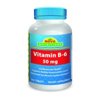 Vitamin B6 50 mg 250 Tablets by Nova Nutritions