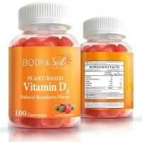 Vitamin D3 | Gummy Vitamins for Comprehensive Health & Wellness – Improve Mood – Strong Bones | Body & Sol (100 ct)
