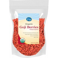 Viva Labs #1 Premium Himalayan Organic Goji Berries, Noticeably Larger and Juicier, 1lb bag (454 gm)