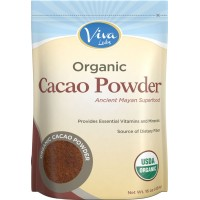 Viva Labs - The BEST Tasting Certified Organic Cacao Powder, 1 lb (454 gm)