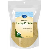Viva Labs - The FINEST 15g Organic Hemp Protein Powder, Cold-Milled for Higher Absorption, 1 LB Bag (454 gm)