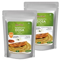 The Spice Club Pesarattu Dosa Mix - 1 kg (Pack of 2) - (Low GI Food, No Preservative,100% Natural)