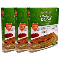 The Spice Club Pesarattu Dosa Mix 200 g (Pack of 3) - (Low GI Food, No Preservative,100% Natural)