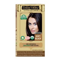 Indus Valley 100% Organic Botanical Soft Black Safe Hair Color One Touch Pack