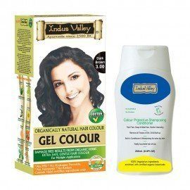 Indus Valley Combo Kit- Gel Dark Brown 3.00 Hair Color & Shampooing Conditioner