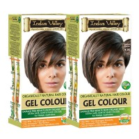 Indus Valley Organically Natural Gel Black 1.00- Extra Safe & Gentle Hair Colour  (Pack Of 2)