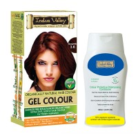 Indus Valley Gel Burgundy 3.6 Hair Color & Colour Protective Shampooing Conditioner- Combo Kit