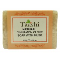 Taashi NATURAL CINAMON CLOVE SOAP WITH MUSK 100 gm