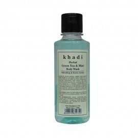 Khadi Herbal Green Tea & Mint Body Wash - 210ml
