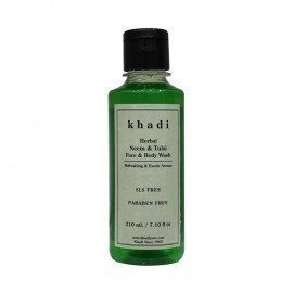 Khadi Herbal Neem & Tulsi Face And Body Wash SLS-Paraben Free - 210ml