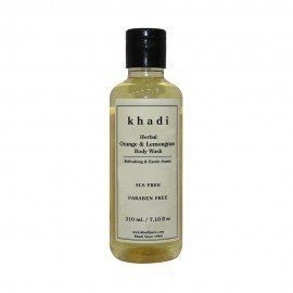 Khadi Herbal Orange & Lemongrass Body Wash SLS-Paraben Free - 210ml