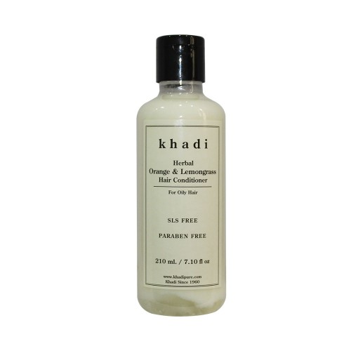 Khadi Herbal Orange & Lemongrass Hair Conditioner SLS-Paraben Free - 210ml
