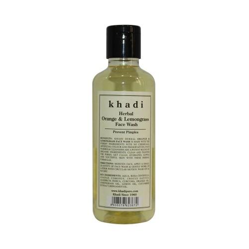 Khadi Herbal Orange & Lemongrass Face Wash - 210ml