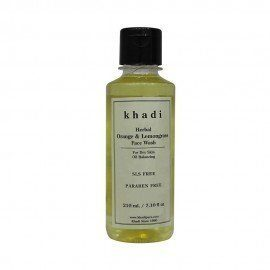 Khadi Herbal Orange & Lemongrass Face Wash SLS-Paraben Free - 210ml