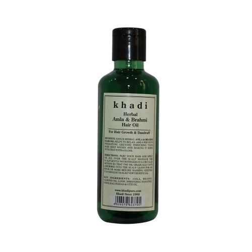 Khadi Herbal Amla & Brahmi Hair Oil - 210ml