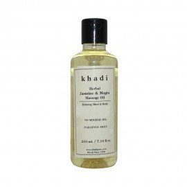 Khadi Herbal Jasmine & Mogra Massage Oil Paraffin-Mineral Oil Free - 210ml