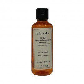 Khadi Herbal Orange & Lemongrass Massage Oil Paraffin-Mineral Oil Free - 210ml