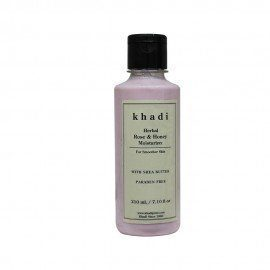Khadi Herbal Rose & Honey Moisturizer With Sheabutter SLS-Paraben Free - 210ml