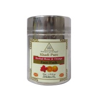 Khadi Pure Herbal Rose & Orange Face Pack - 50g