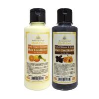 Khadi Pure Orange & Lemongrass and Shikakai & Honey Hair Conditioner Combo (420ml) Pack 2