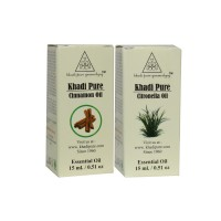 Khadi Pure Cinnamon Or Citronella Essential Oil Combo (30ml) Pack 2