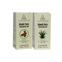 Khadi Pure Cinnamon Or Citronella Essential Oil Combo (30ml) Pack 2