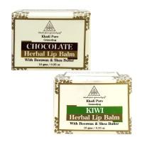 Khadi Pure Chocolate And  Kiwi Lip Balm Combo (20g) Pack 2