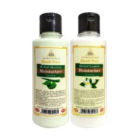 Khadi Pure Aloevera And Jasmine Moisturizer Combo (420ml) Pack 2
