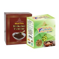 Khadi Pure Shikakai And  Triphala Powder Combo (160g) Pack 2