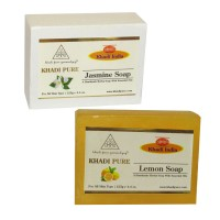 Khadi Pure Jasmine And  Lemon Soap Combo (250g) Pack 2