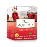 Grenera Organics Moringa Rose Infusion - 20 Tea Bags / Box - Organic Certified