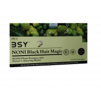 BSY Noni Black Hair Magic Shampoo / Hair Dye - 20 sachets of 12 ml each