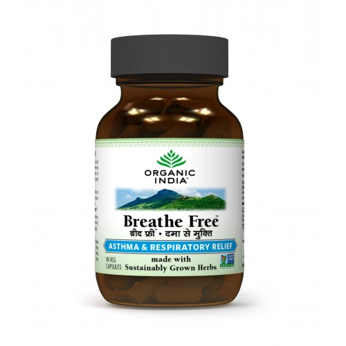 Organic India BREATHE FREE Caps (60)