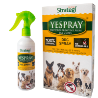 Herbal Strategi Yespray for Dogs – Herbal Protection from Ticks, Fleas, Lice and Mites - 200ml