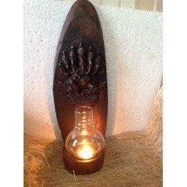 Panch Mukhi Ganesha -Wooden T-Light Holder Buddha