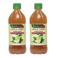NutrActive™  Apple Cider Vinegar Mother Of Vinegar Syrup 1000 Ml Apple Jacked Pack Of 2