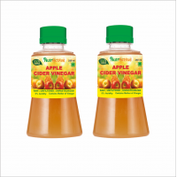 NutrActive Unfiltered Apple Cider Vinegar With Mother Of Vinegar | Raw Dressing 500 Ml Pack Of 2