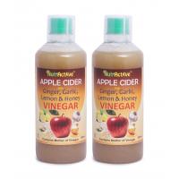 NutrActive Apple Cider Vinegar Ginger, Garlic, Lemon & Honey Dressing 1000 Ml Pack Of 2