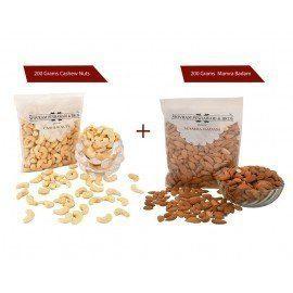 Cashew 200 gms + Mamra Badam 200 gms