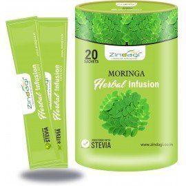 Zindagi Moringa Health Infusions- Natural Moringa Leaf Extact- Health Drink