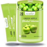 Zindagi Green Apple Herbal Infusion- 100% Natural Sugar Free- Green Apple Extract