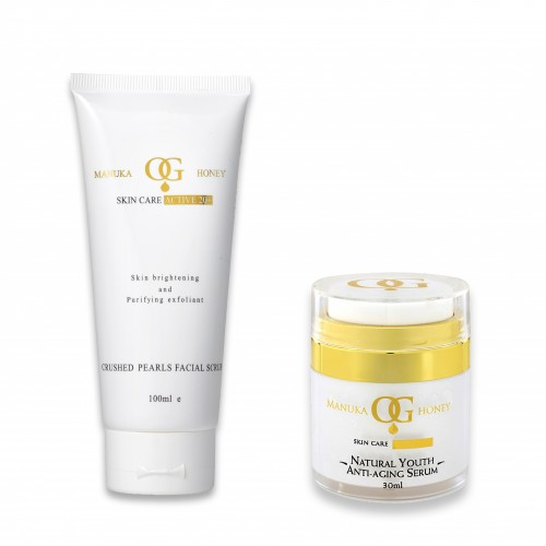 Oceanic Gold Ocean Facial Scrub  With Crushed Pearls &  Natural Youth Anti Aging
