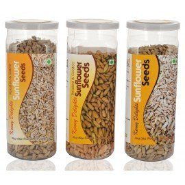 Kenny Delights Sunflower Seeds Combo (Roasted & Salted Sunflower Seeds, Roasted & Coated Sunflower Seeds And Raw Sunflower Seeds, 150g Can Each)
