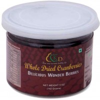 Premium Whole Dried Cranberries - 5 Oz (142 gms)
