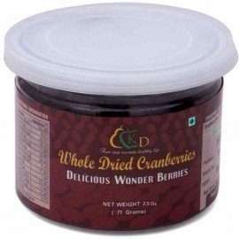 Premium Whole Dried Cranberries - 2.5 Oz (71 gms)