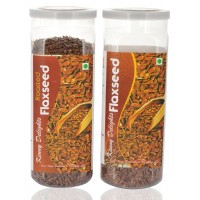 Kenny Delights Roasted Flax Seeds(150g) And Raw Flax Seeds (150g) Combo Of 2
