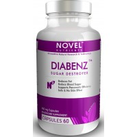 Novel Nutrients DIABENZ 450 mg, 60 Capsules - Diabetic Support