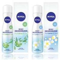 Nivea Body Deodorizer Fresh Citrus & Fresh Petal Care Gas Free Spray for Women, 120ml