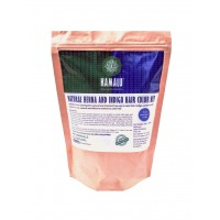 Kamalu Henna &Indigo All Natural Hair Color Kit 200gms - Free Hand Glove Inside