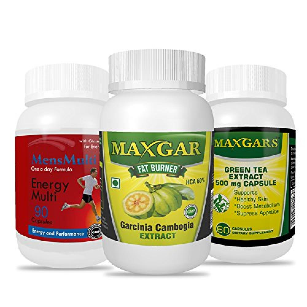 Maxgars Garcinia Cambogia Extract Green Tea Extract Mensmulti Multivitamin Weight Loss Combo For Men